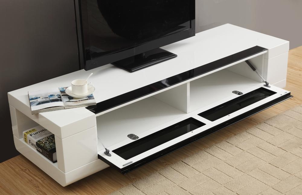 B Modern Editor Remix Mini Tv Stand | White High Gloss, B Modern Inside Newest High Gloss White Tv Stands (Image 4 of 20)