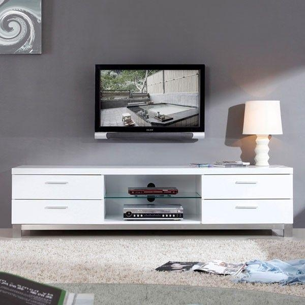 "B Modern – Promoter 79"" High Gloss White Tv Stand – Bm 120 Wht 