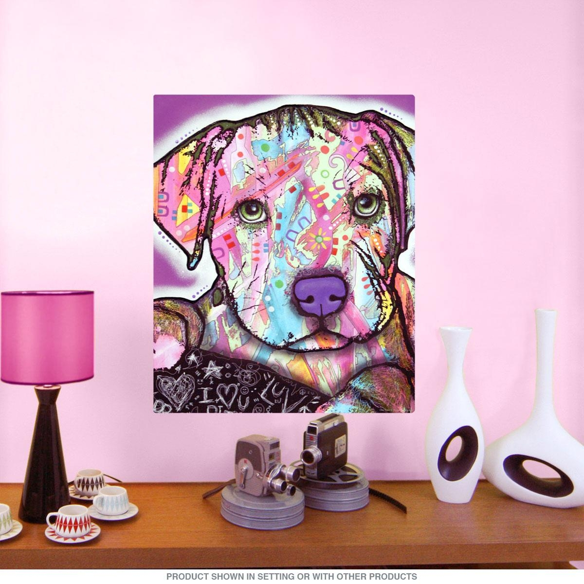 Baby Pit Bull Dog Dean Russo Pop Art Wall Decal | Pet Wall Decor Regarding Pitbull Wall Art (View 7 of 20)