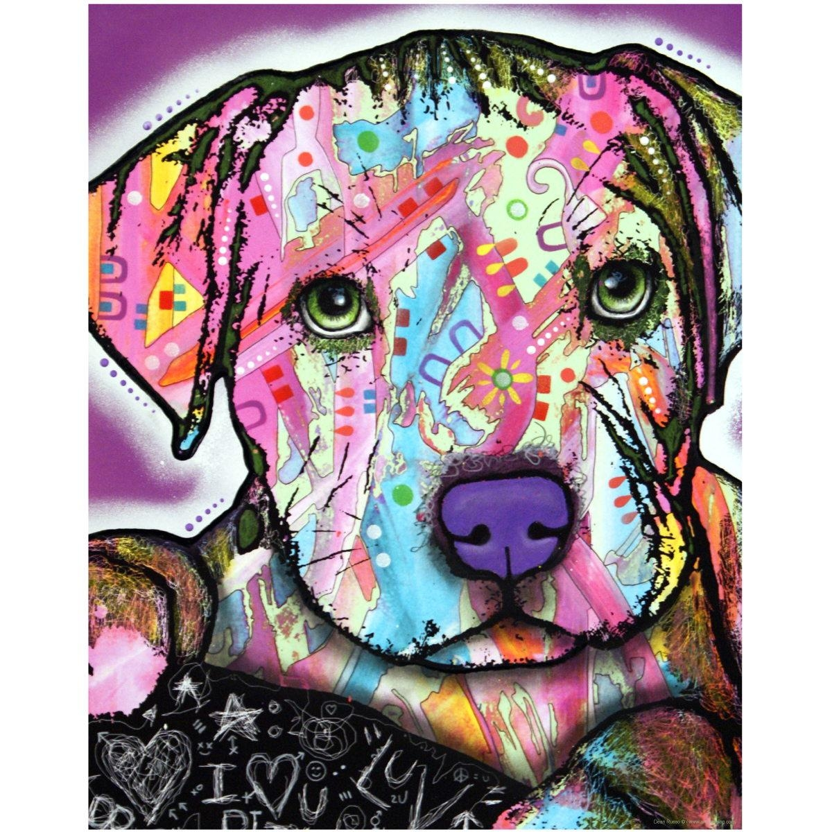 Baby Pit Bull Dog Dean Russo Pop Art Wall Decal | Pet Wall Decor Within Pitbull Wall Art (Image 7 of 20)