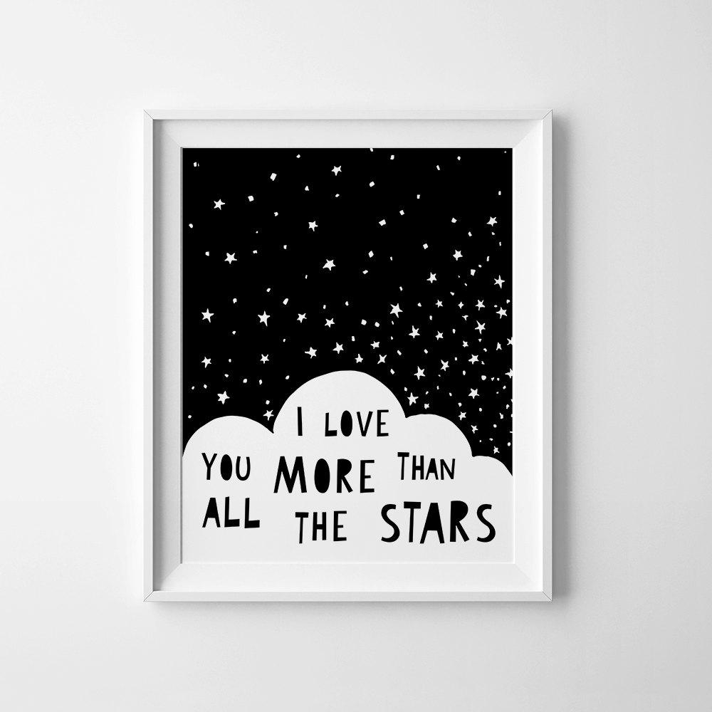 Baby Wall Art Printable Nursery Decor I Love You More Than Throughout I Love You More Wall Art (Image 4 of 20)