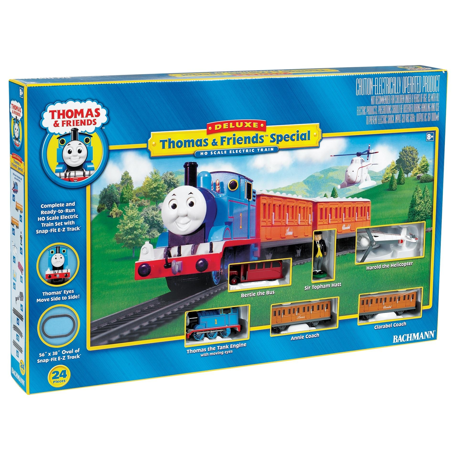 Bachmann Ho Scale Thomas And Friends Deluxe Train Set – Free With Regard To Thomas The Tank Wall Art (Image 3 of 20)