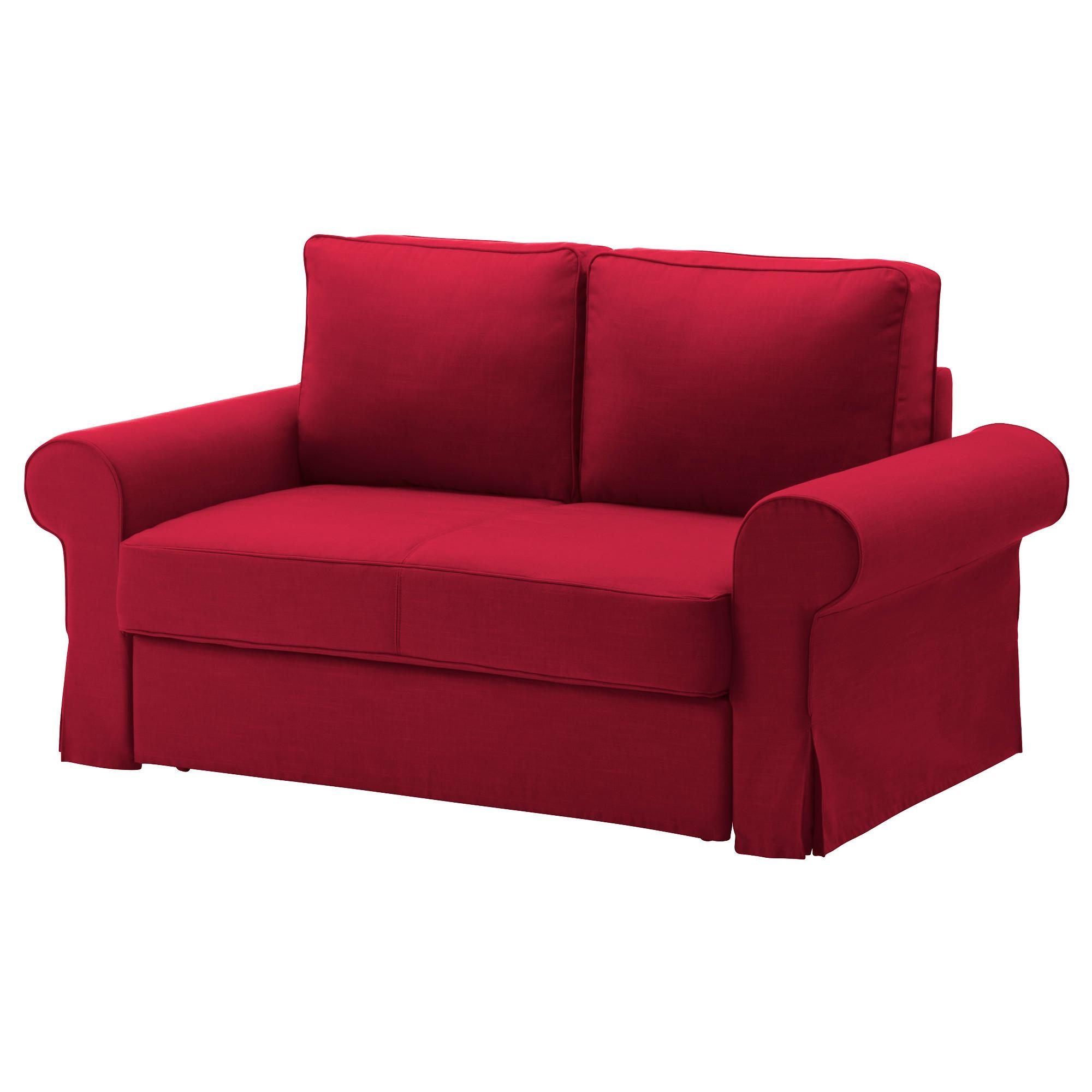 Backabro Two Seat Sofa Bed Nordvalla Red – Ikea Throughout Red Sofa Beds Ikea (Image 2 of 20)
