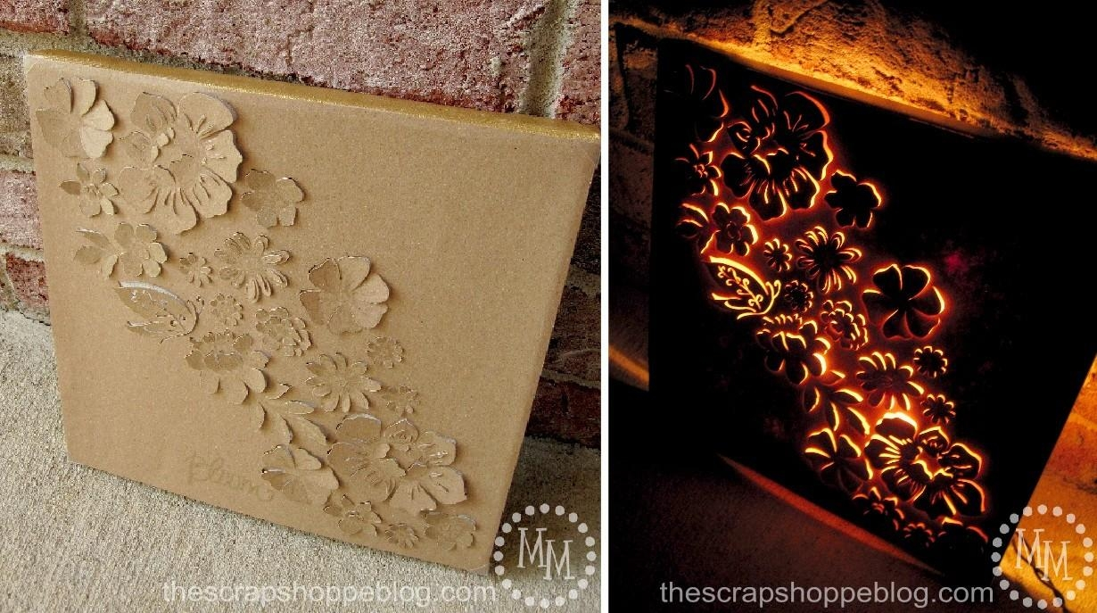 Backlit Canvas Art – The Scrap Shoppe With Regard To Backlit Wall Art (Image 4 of 20)