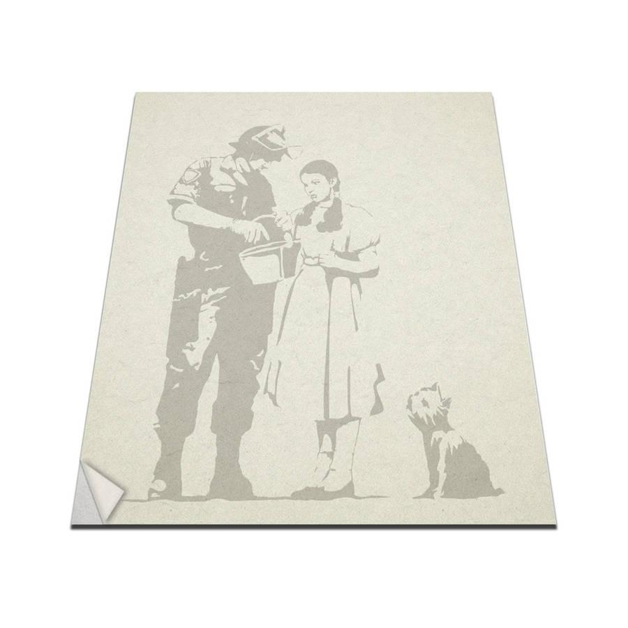 Banksy Wizard Of Oz Stop And Search Wall Artvinyl Revolution For Wizard Of Oz Wall Art (Image 8 of 20)