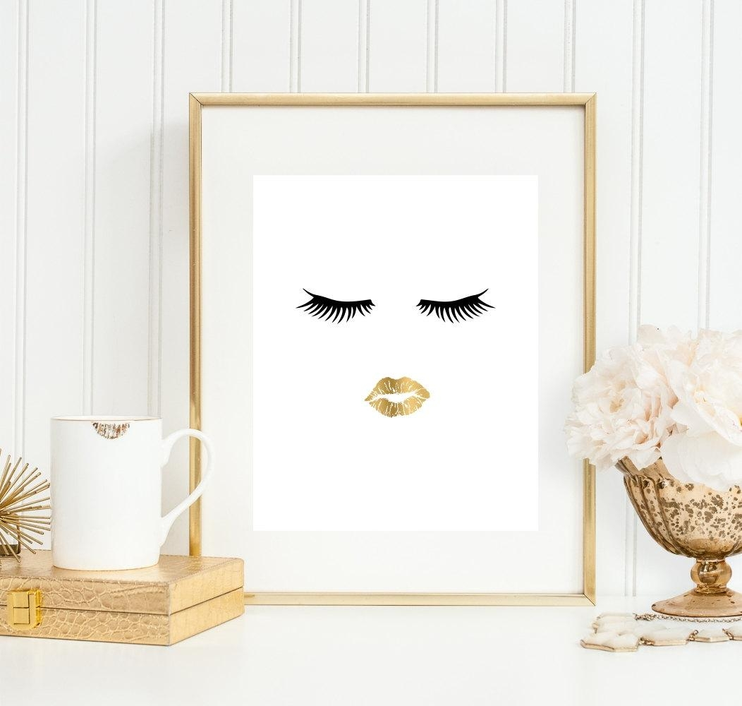 Bathroom Wall Art Bathroom Art Print Makeup Art 5X7 8X10 Inside Wall Art For The Bathroom (Image 5 of 20)