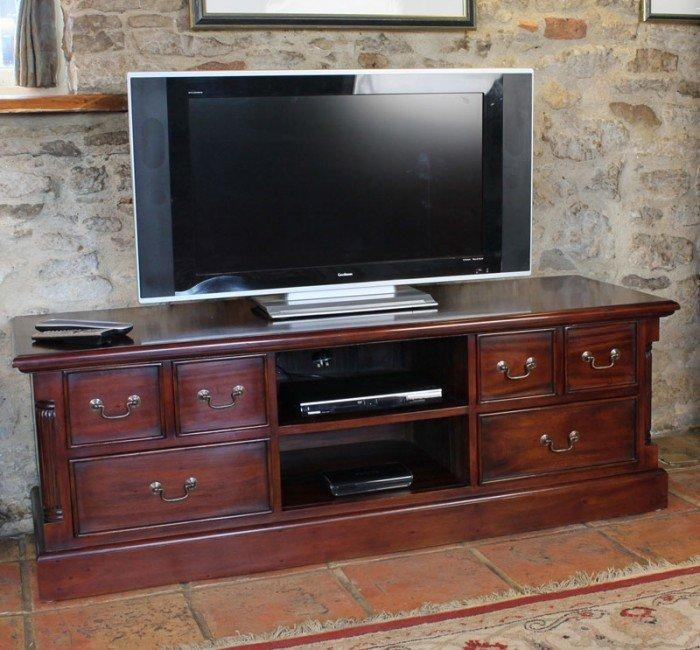 Baumhaus La Roque Mahogany Tv Cabinet (Imr09A) With Regard To 2018 Mahogany Tv Cabinets (Image 2 of 20)