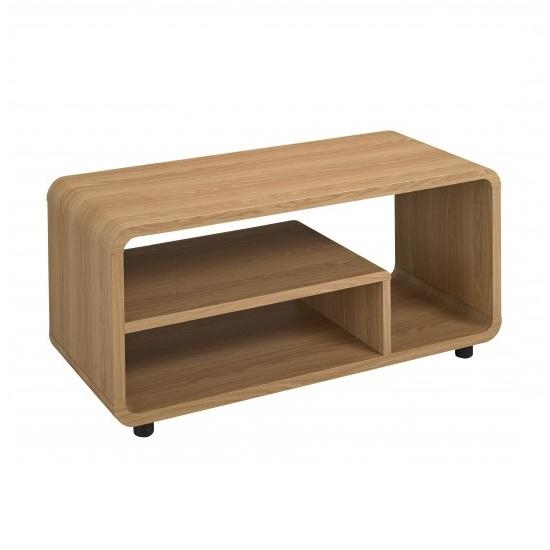 Baxton Curve Lcd Tv Stand In Oak 23826 Furniture In Fashion Intended For Most Recently Released Curve Tv Stands (View 4 of 20)