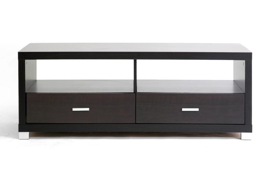 Baxton Studio Derwent Modern Tv Stand W/ Drawers With Recent Black Tv Stands With Drawers (Image 5 of 20)
