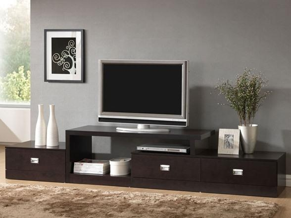 Baxton Studio Marconi Tv Stand Inside Most Recently Released Extra Long Tv Stands (Image 1 of 20)