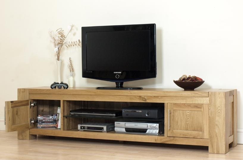 Baymont Widescreen Tv Cabinet | Woodworking Stand With Most Up To Date Oak Widescreen Tv Unit (Image 4 of 20)