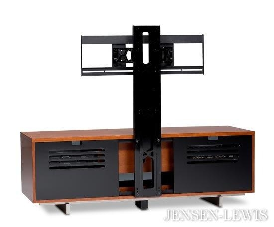 Bdi Arena Flat Panel Tv Cabinet Mount 9970 | Jensen Lewis New York With Regard To Best And Newest Modern Tv Cabinets For Flat Screens (Image 2 of 20)