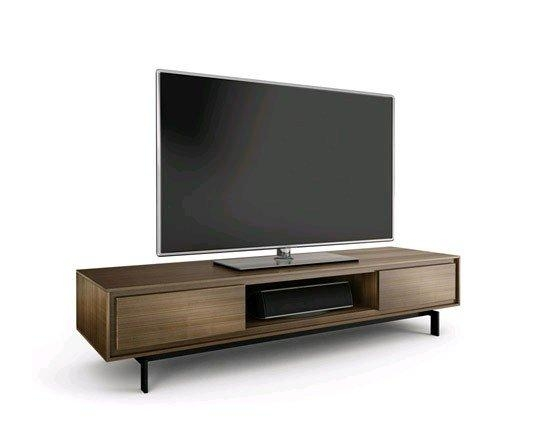 Bdi Signal 8323 Walnut Low Tv Cabinet In Most Current Walnut Tv Cabinet (Image 4 of 20)