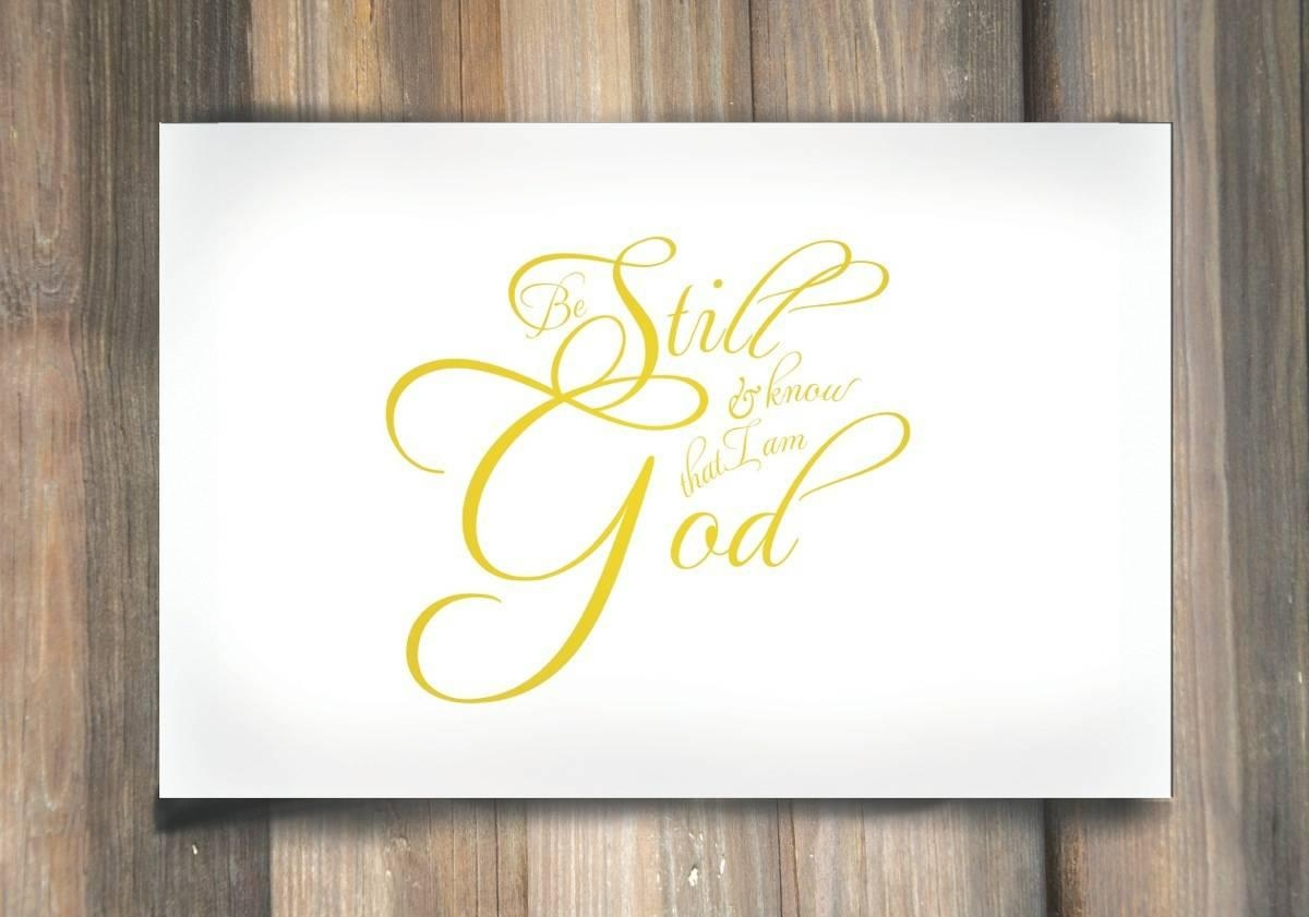 Be Still And Know That I Am God – Psalms 46:10 – Lds Wall Art Within Be Still And Know That I Am God Wall Art (Image 3 of 20)