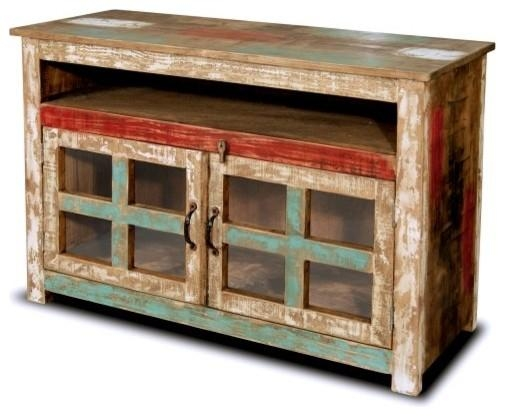 Beach Style Entertainment Centers And Tv Stands | Houzz Pertaining To Most Recently Released Rustic Tv Stands For Sale (Image 2 of 20)