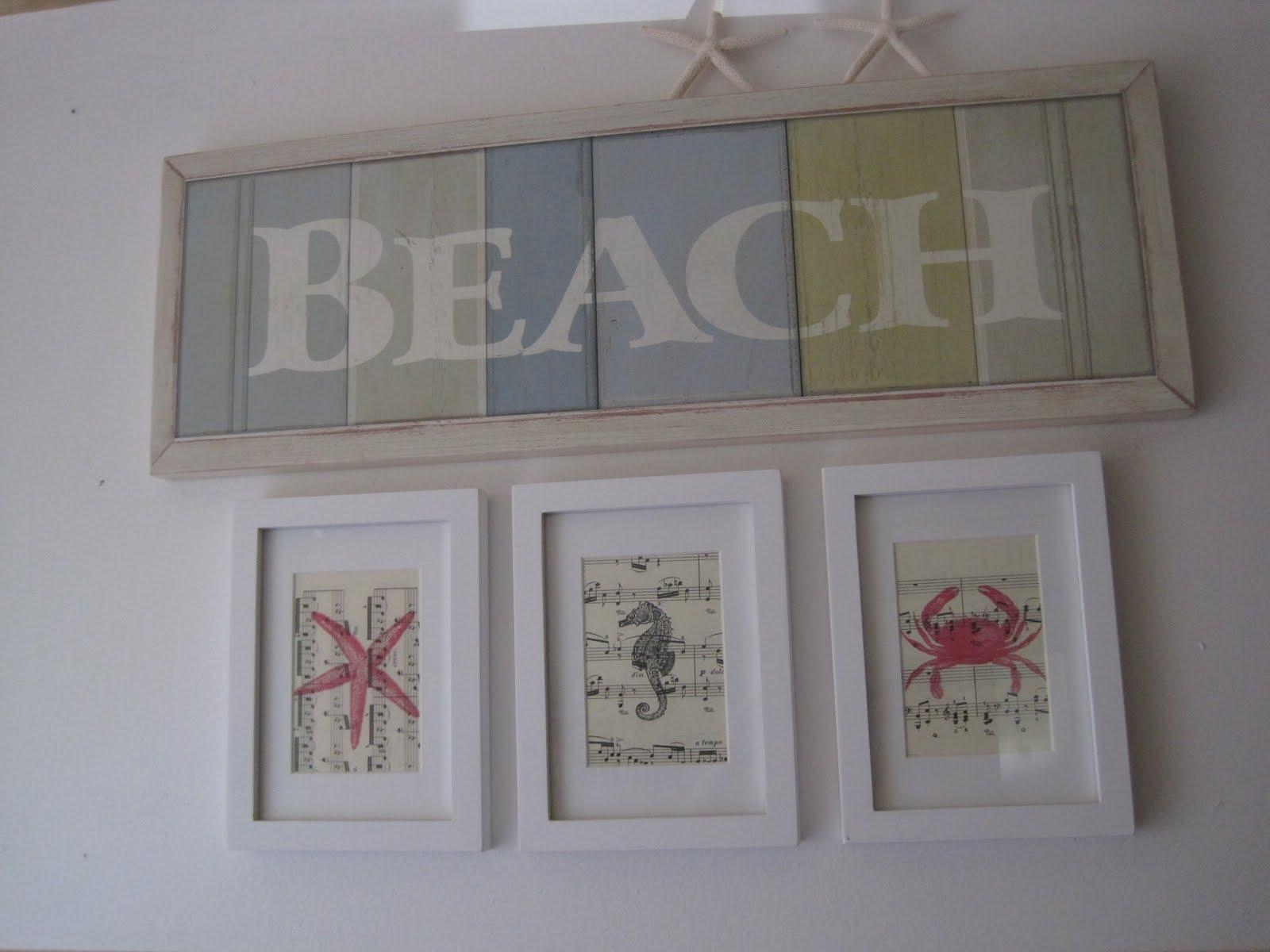 Beach Themed Wall Art | Wallartideas Regarding Beach Themed Wall Art (Image 1 of 20)