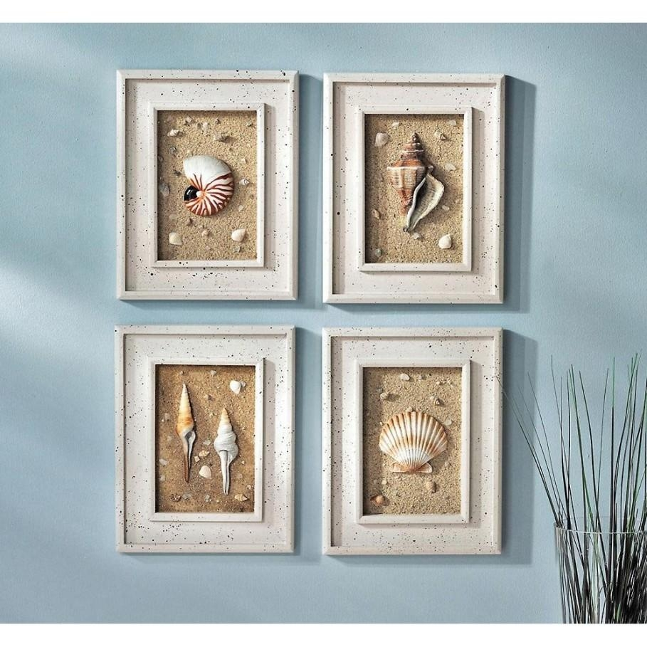 Beach Wall Art For Bathroom | Home Design Throughout Beach Themed Wall Art (Image 3 of 20)