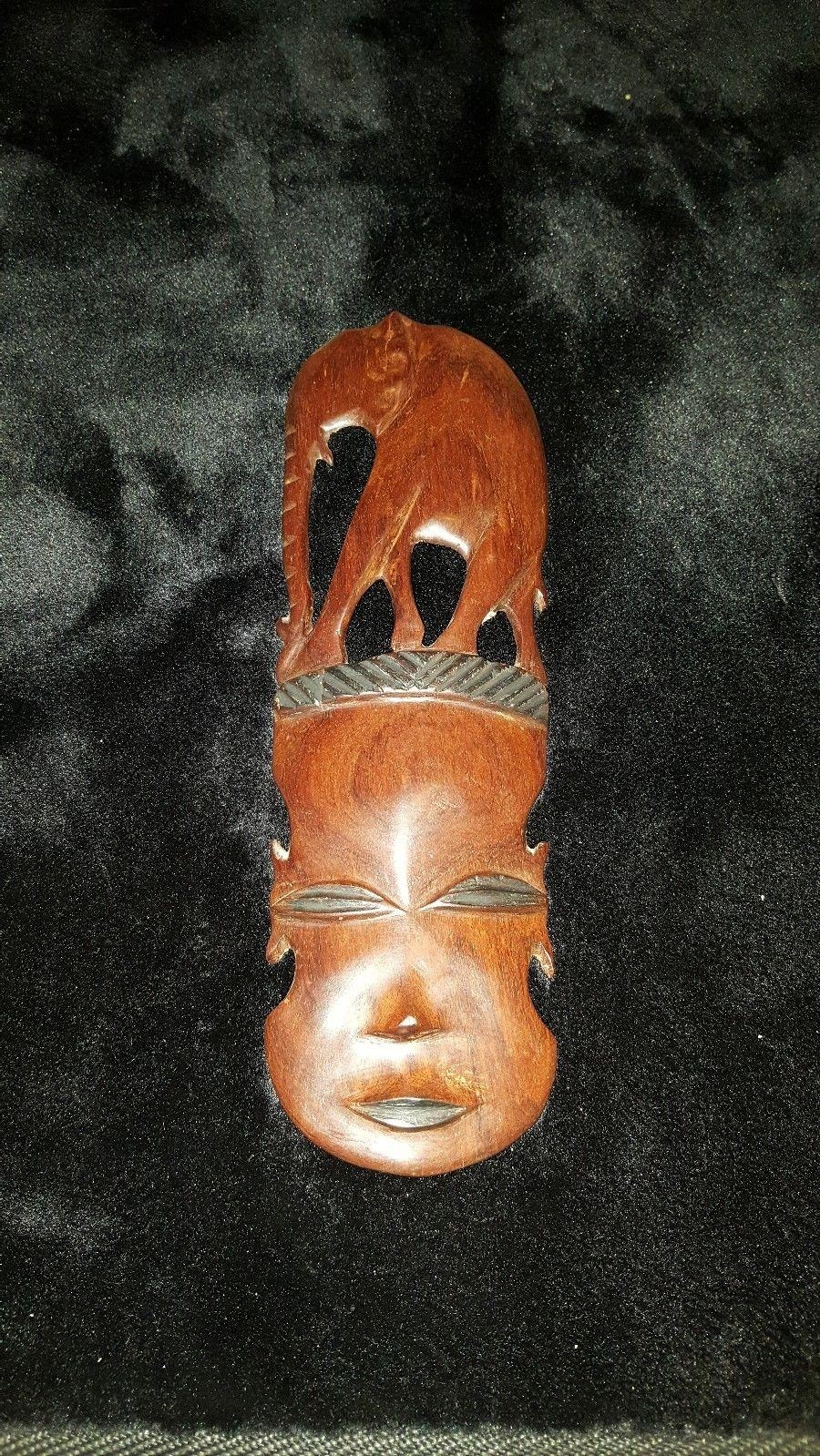 Beautiful African Wood Hand Carved Elephant Tribal Mask Wall Art Throughout Wooden Tribal Mask Wall Art (Image 8 of 20)