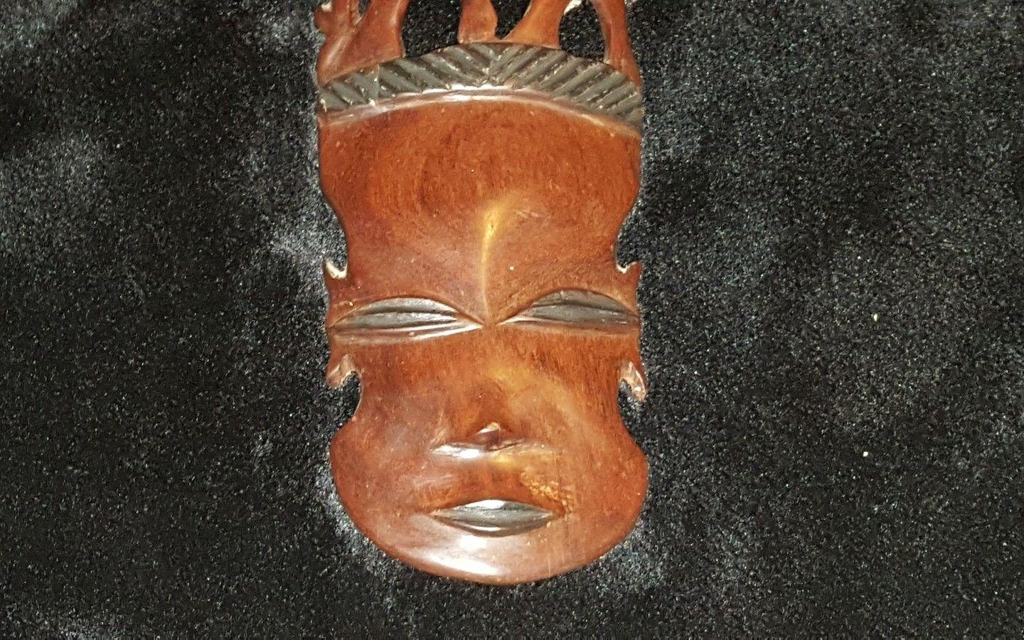 Beautiful African Wood Hand Carved Elephant Tribal Mask Wall Art With Wooden Tribal Mask Wall Art (Image 9 of 20)