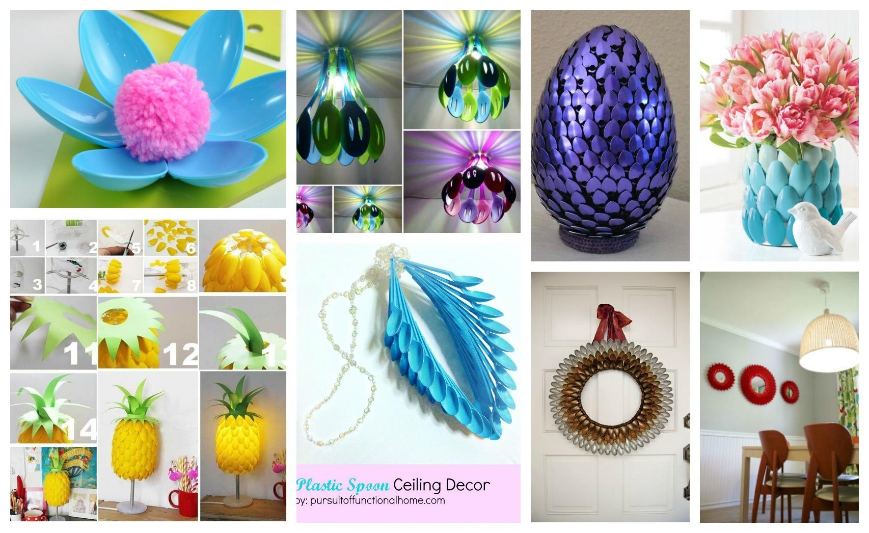 Beautiful Diy Plastic Spoon Crafts That You Would Love To Make With Regard To Plastic Spoon Wall Art (View 14 of 20)
