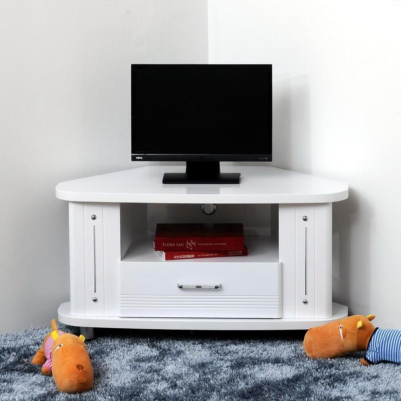 Featured Photo of White Small Corner Tv Stands