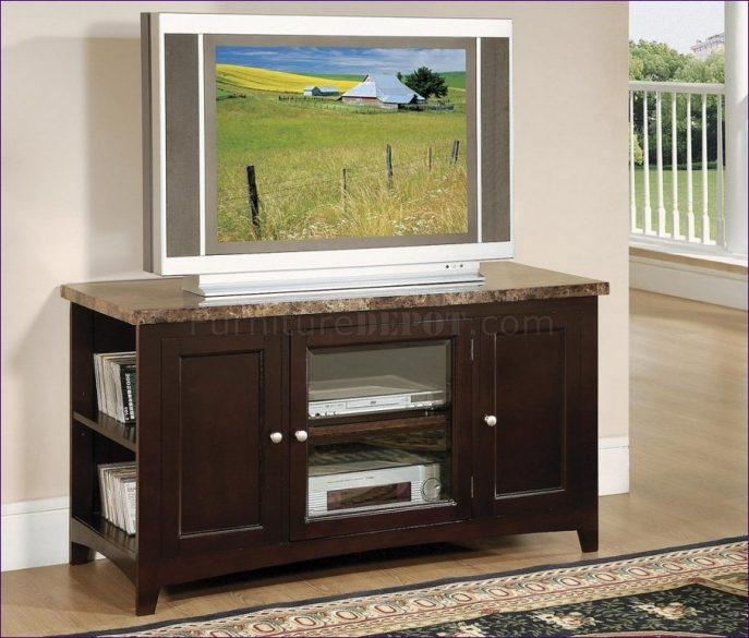 Bedroom : Awesome Rustic Tv Stand Oak Tv Cabinet Cherry Tv Stand With Most Recent Oak Tv Cabinets For Flat Screens (View 3 of 20)