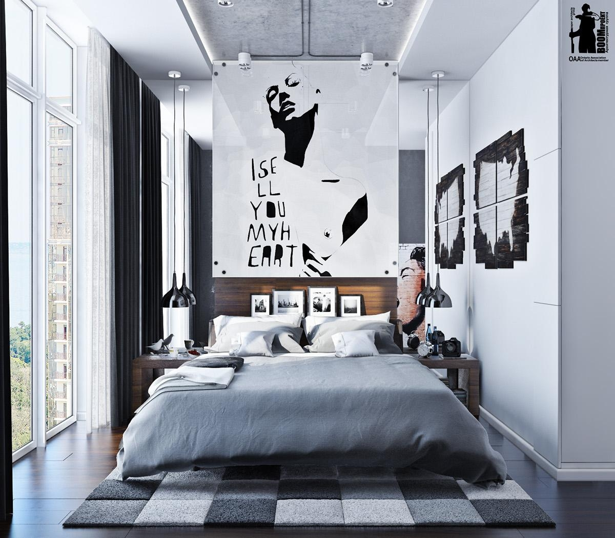 Modern Homes Bedrooms Designs Best Bedrooms Designs Ideas: 20 Collection Of Cool Wall Art For Guys