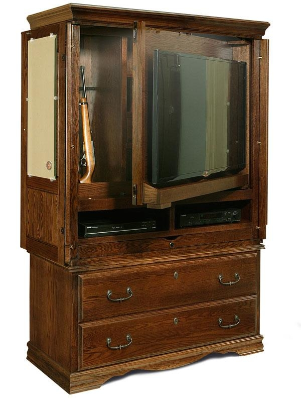 Bedroom Furniture | Flat Screen Tv Armoire | American Made Intended For Recent Tv Hutch Cabinets (Image 3 of 20)