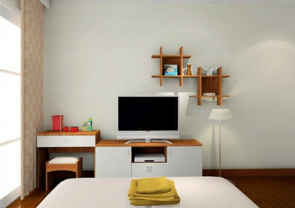 Bedroom Furniture Sets : Tv Wall Cabinet Media Furniture Pertaining To Most Recent Bedroom Tv Shelves (Image 4 of 20)