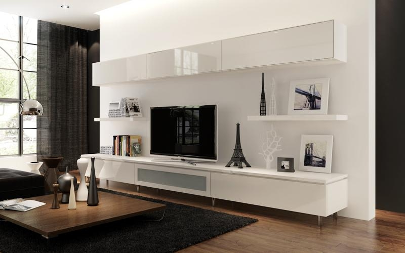 Bedroom : Gorgeous Floating Wall Mount Espresso Tv Stand 58 Shelf For Recent White Wall Mounted Tv Stands (Image 4 of 20)