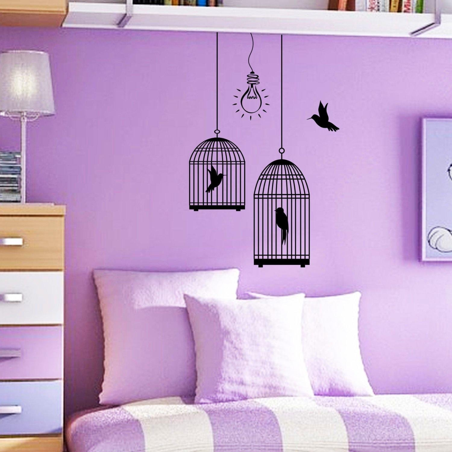 Bedroom : Light Purple Wall Paint Purple Colour Bedroom What Color Pertaining To Purple Wall Art For Bedroom (Image 3 of 20)
