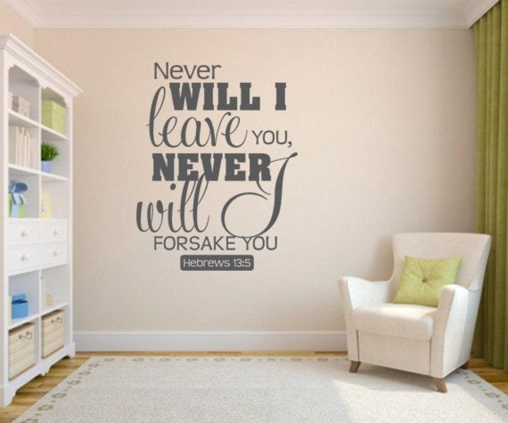 Bedroom Wall Quotes Christian (Image 5 of 20)