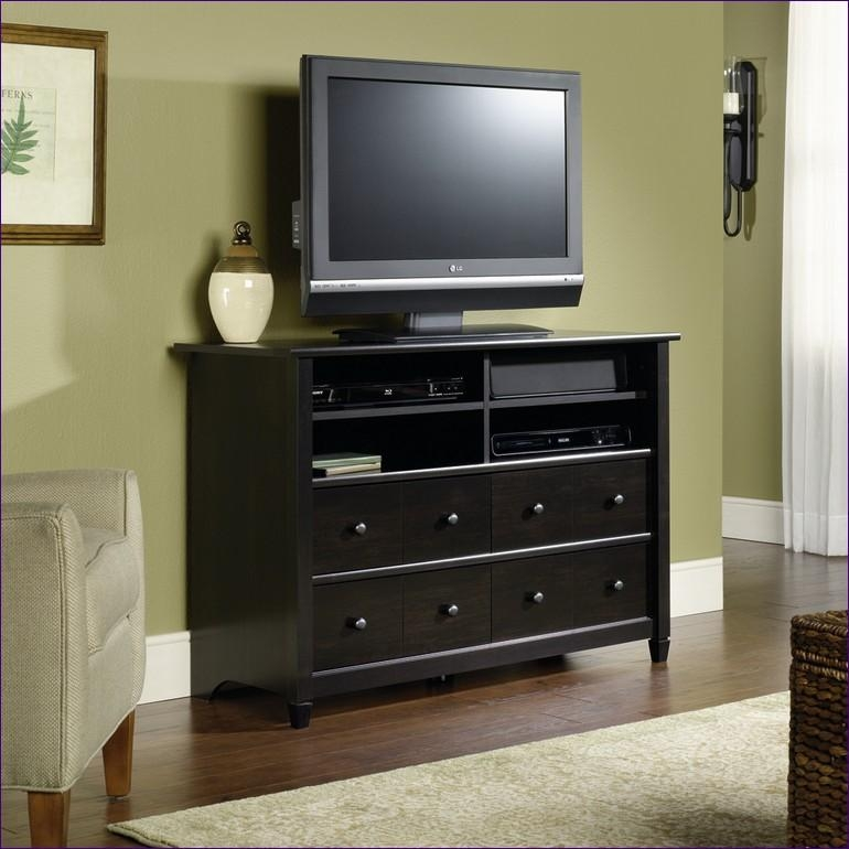 Bedroom : Wonderful Small Tv Bench Tv Stand With Drawers Tv With Regard To 2017 Black Tv Cabinets With Drawers (Image 8 of 20)