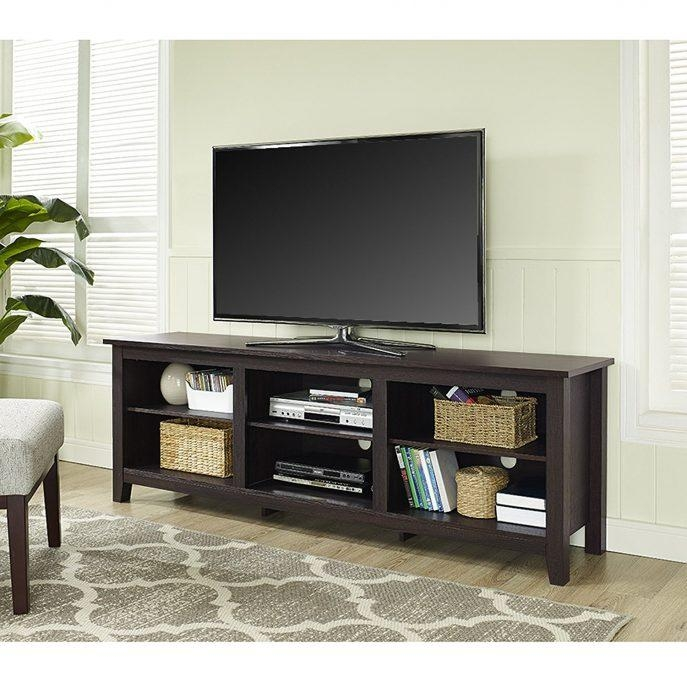 Bedrooms : Glass Tv Cabinet Tv Stand With Mount Entertainment Throughout Most Up To Date Dark Wood Tv Cabinets (Image 2 of 20)