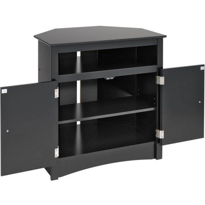 Bedrooms : Television Cabinets Buy Tv Stand Tv Stand With Storage Throughout Most Recent Small Black Tv Cabinets (Image 6 of 20)
