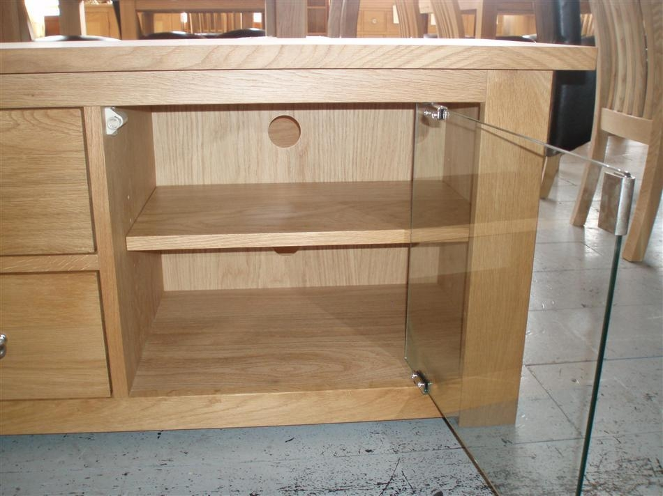 Beech Tv Cabinets   Memsaheb Throughout Best And Newest Glass Tv Cabinets With Doors (View 7 of 20)
