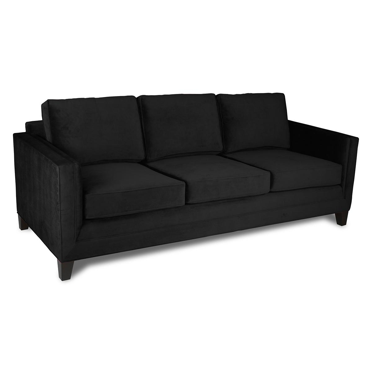 Belfast Velvet Sofa Intended For Black Velvet Sofas (Image 1 of 20)