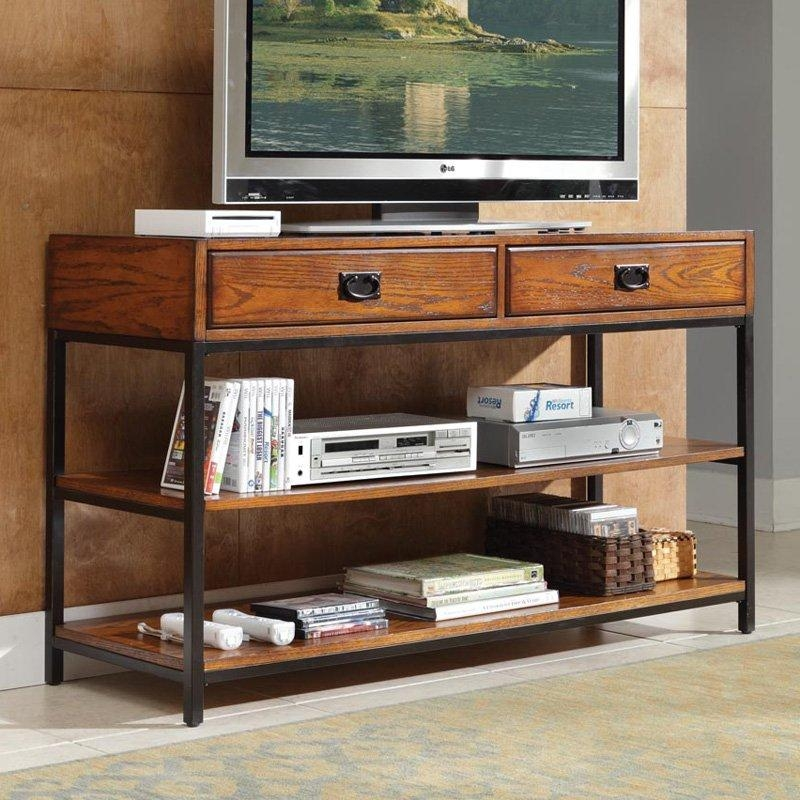 Belham Living Edison Reclaimed Wood Tv Stand | Hayneedle With Regard To Current Wood And Metal Tv Stands (Image 4 of 20)