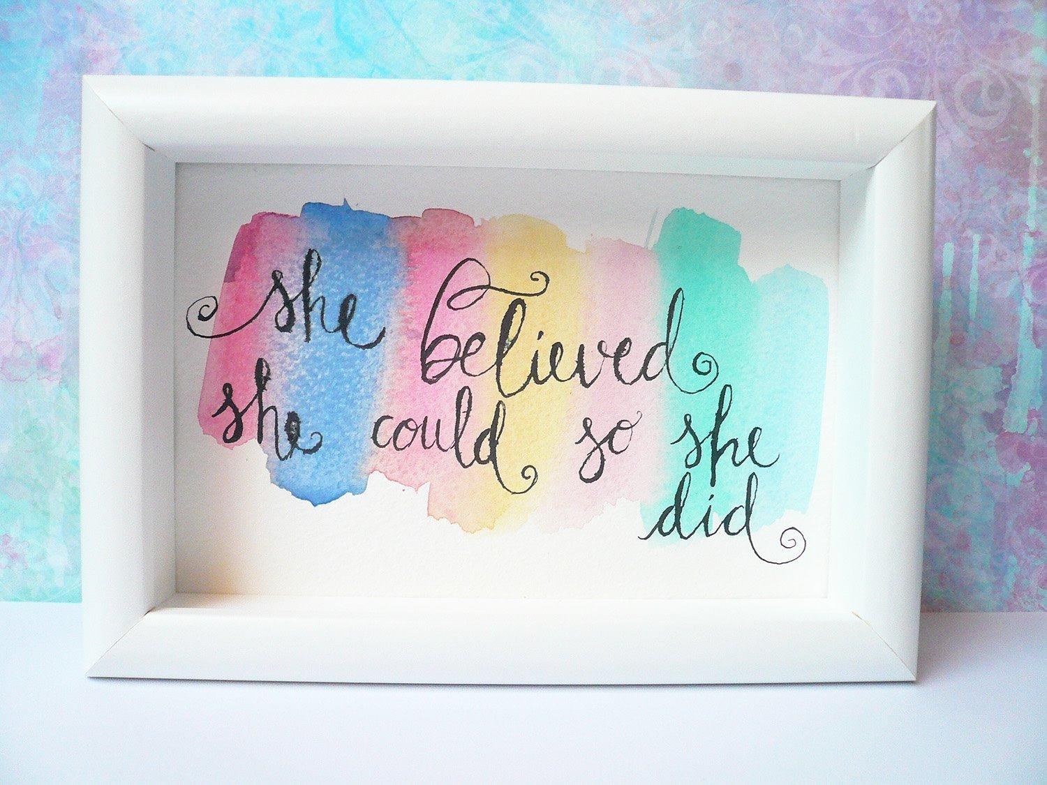 Believed She Could So She Did – Inspirational Wall Art For She Believed She Could So She Did Wall Art (Image 1 of 20)