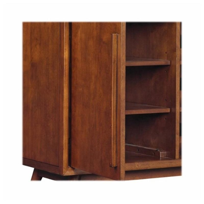 "Bell'o Leawood 54"" 4 Shelf Tv Stand – Mahogany Cherry | Pcrichard Regarding Most Popular Mahogany Tv Stands (View 15 of 20)"