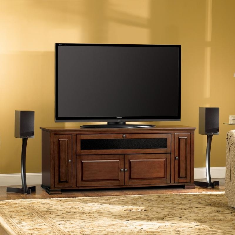 "Bello Pr33 62"" Traditional Tv Stand Audio Video Storage Cabinet In Within Most Up To Date Traditional Tv Cabinets (Image 3 of 20)"