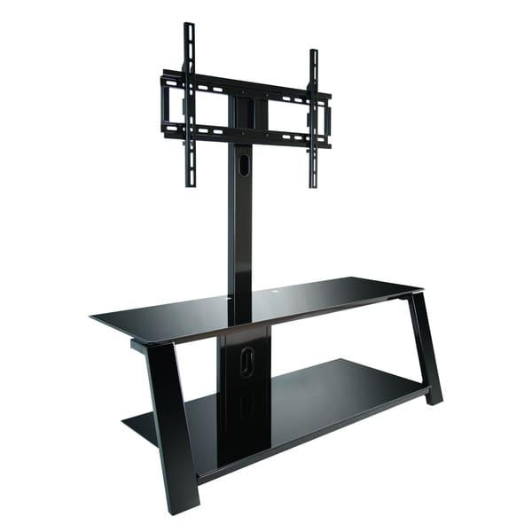 Bell'o Tp4444 Triple Play 44 Inch Black Tv Stand For Tvs Up To 55 Regarding Newest Bell'o Triple Play Tv Stands (View 2 of 20)