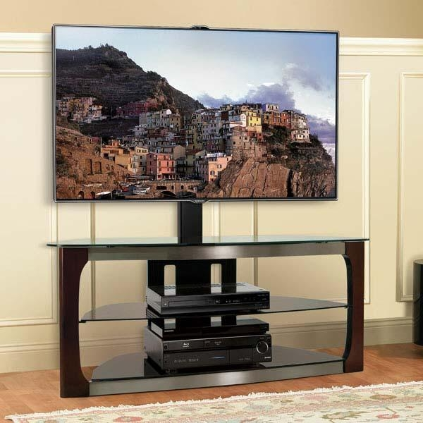 Bello Triple Play Series 60 Inch Tv Stand With Swivel Mounting With Current Corner 60 Inch Tv Stands (Image 5 of 20)