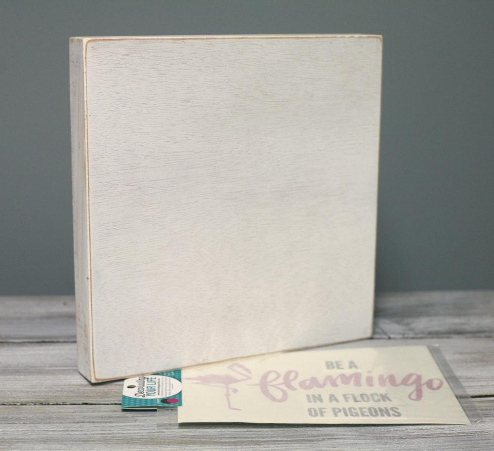Ben Franklin Crafts And Frame Shop: Diy Pink Flamingo Wall Art Inside Box Signs Wall Art (Image 7 of 20)
