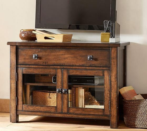 Benchwright Tv Stand, Small | Pottery Barn In Best And Newest Bench Tv Stands (Image 6 of 20)