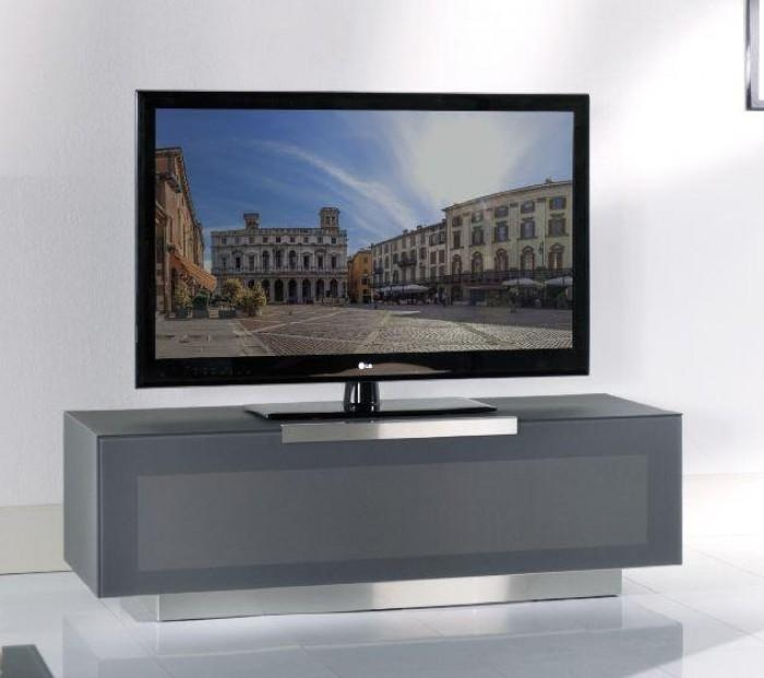 Bergamo – Bg422 Anm Modern Metallic Grey Tv Stand Made In Italy Pertaining To 2018 Grey Tv Stands (Image 5 of 20)