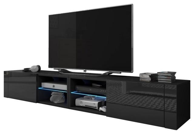 """Best 200 Modern 90"""" Tv Stand High Gloss Fronts And 16 Colors Led In Most Recent High Gloss Corner Tv Unit (View 9 of 20)"""