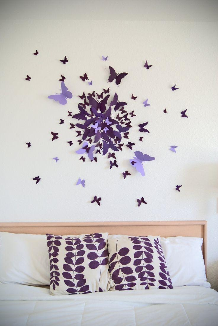 Best 25+ 3D Butterfly Wall Decor Ideas On Pinterest | Butterfly Inside Wall Art For Bedroom (Image 8 of 20)