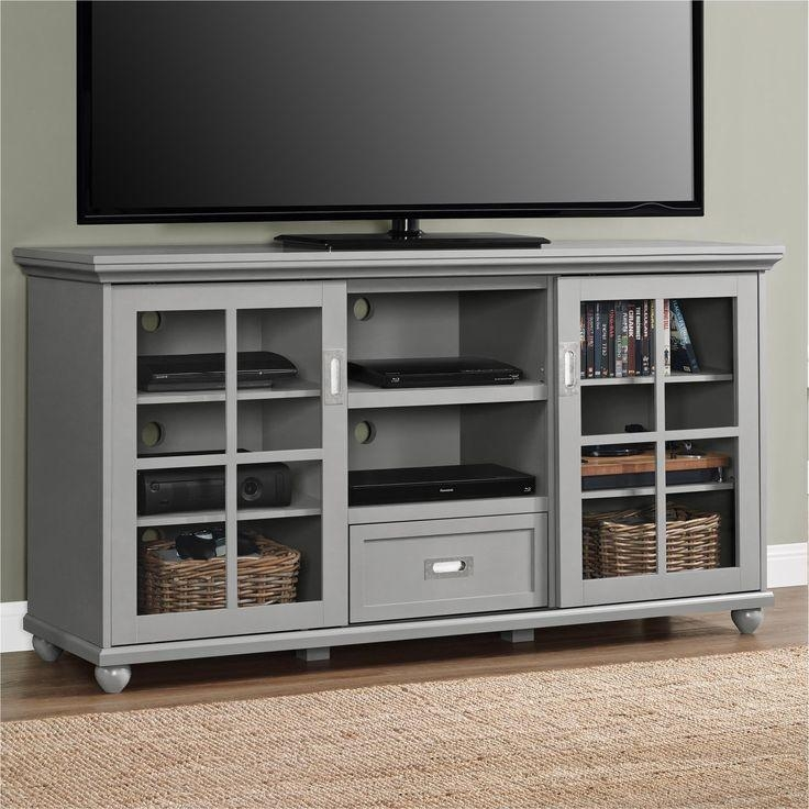 Best 25+ 55 Inch Tv Stand Ideas On Pinterest | White Tv Stands, Tv Inside Recent Oak Tv Stands With Glass Doors (View 3 of 20)