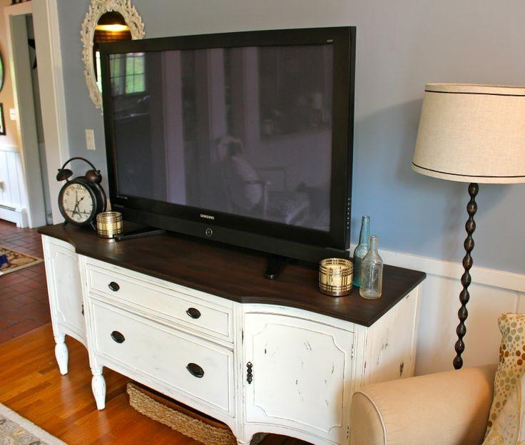 Best 25+ Antique Tv Stands Ideas On Pinterest | Chalk Paint In Most Popular White Painted Tv Cabinets (Image 6 of 20)